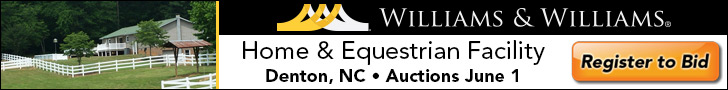 Williams Auction Banner Ad The Carolinas Equestrian.